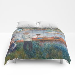 Oarsmen at Chatou Painting by Auguste Renoir Comforters