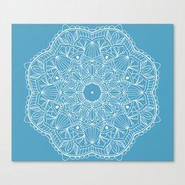 Peace Mandala Light Blue Canvas Print
