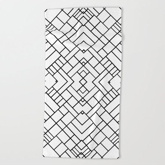 PS Grid 45 Beach Towel