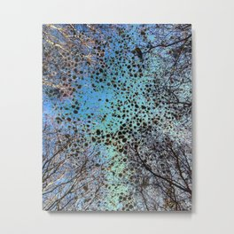 Branches And Marble Metal Print