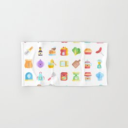 CUTE COOKING PATTERN Hand & Bath Towel