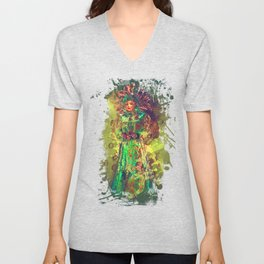 Abstract Carneval Unisex V-Neck