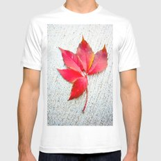 Red White MEDIUM Mens Fitted Tee