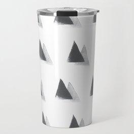 black and grey Travel Mug
