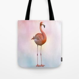 digital painting of Pink flamingo Tote Bag