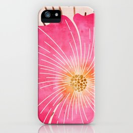 Pink Tropical iPhone Case