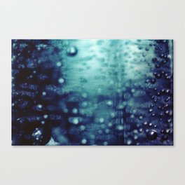 Bubbles Macro Canvas Print