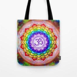 Sahasrara Chakra - Crown Chakra Rainbow Lotus - Series V Tote Bag