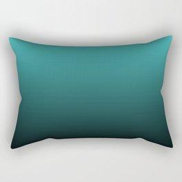 Teal Black Ombre Rectangular Pillow