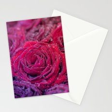 Bed of darkred roses - Red rose bunch Stationery Cards