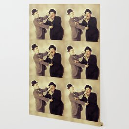 Laurel and Hardy, Hollywood Legends Wallpaper