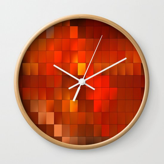 light squares Wall Clock