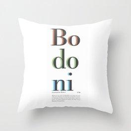 Bodoni Throw Pillow