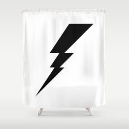 Black Lightning Shower Curtain