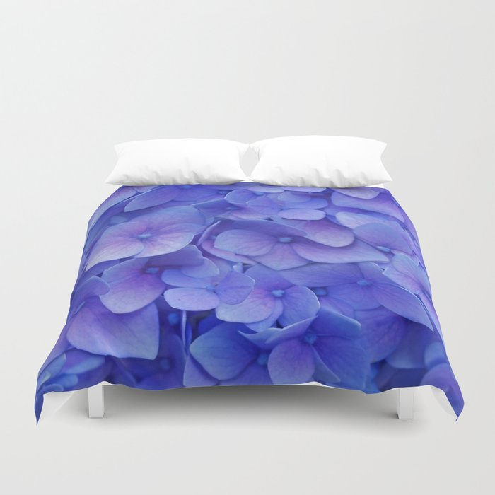 Hydrangea blue Duvet Cover