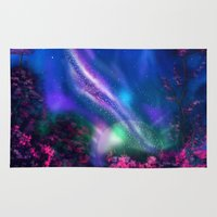 milky way Area & Throw Rugs featuring Milky Way by Ljartdesigns
