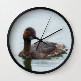 Eared Grebe Wall Clock