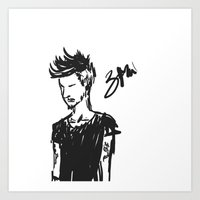 zayn Art Prints featuring Zayn by justsomestuff