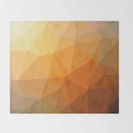 Shades Of Orange Triangle Abstract Throw Blanket