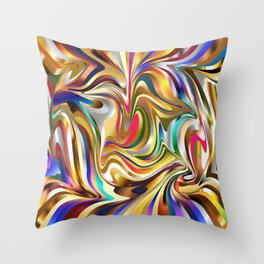 wallpaper psychedelic background Throw Pillow