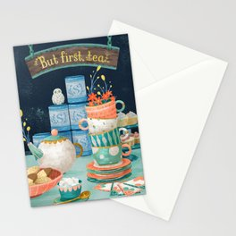 But first, tea. Stationery Cards