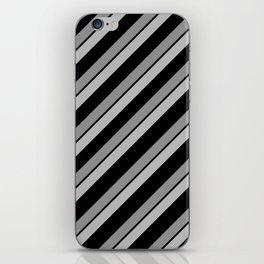 Grey Bands on Black iPhone Skin