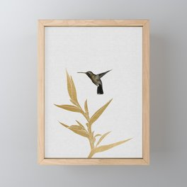 Hummingbird & Flower II Framed Mini Art Print
