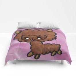 Happy little alpaca Comforters