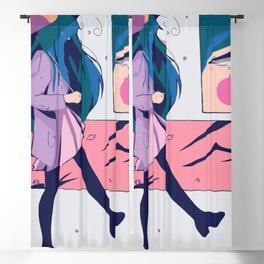 Aesthetic Sad Girl Blackout Curtain