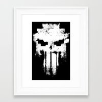 punisher Framed Art Prints featuring Space Punisher by RicoMambo