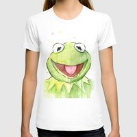 kermit T-shirts featuring Kermit Portrait by Olechka