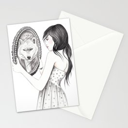 White Ghost Stationery Cards