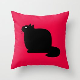 Angry Animals - Fat Cat Throw Pillow