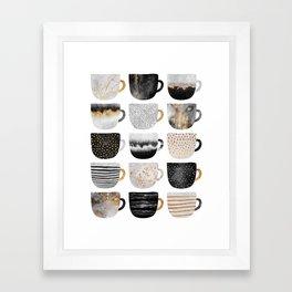 Pretty Coffe Cups 3 - White Framed Art Print