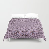 pantone Duvet Covers featuring Pantone Flowery Kaleidoscope by Bella Mahri-PhotoArt By Tina