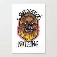 chewbacca Canvas Prints featuring Chewbacca by Laura Pato
