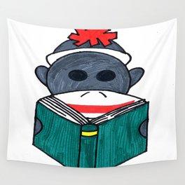 Spunky Teaching Monkey Wall Tapestry
