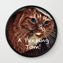 A Peeping Tom! Wall Clock