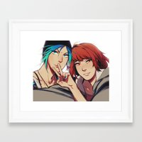 selfie Framed Art Prints featuring Selfie by Blue