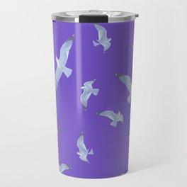 purple seagull day flight Travel Mug