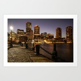 The Lights of Boston pier Art Print