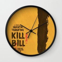 Kill Bill, Quentin Tarantino, minimal movie poster,  Uma Thurman, Lucy Liu, alternative film Wall Clock