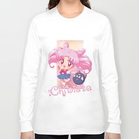 chibi Long Sleeve T-shirts featuring Chibi Chibiusa by Neo Crystal Tokyo