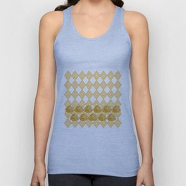Yellow Peonies & Diamonds Unisex Tank Top