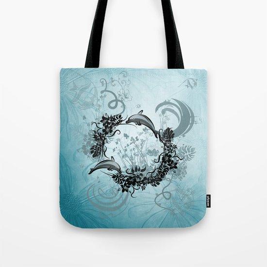 Cute dolphin Tote Bag