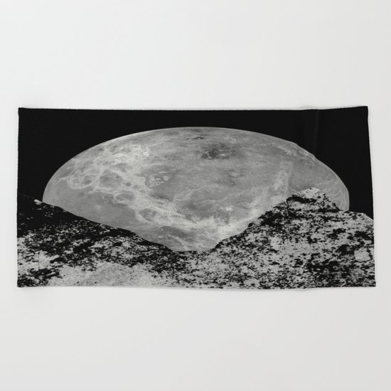 Lunar Rising Beach Towel