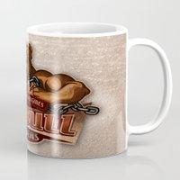 pitbull Mugs featuring PITBULL RIDERS by gtrullas
