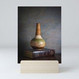 Vase and Book Mini Art Print