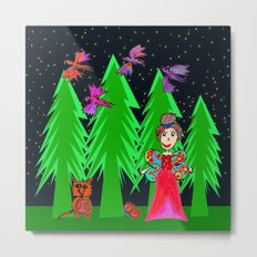 Night Fairy | Before Christmas | Kids Painting Metal Print