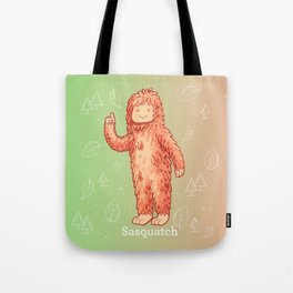 Sasquatch - Cute Cryptid Tote Bag
